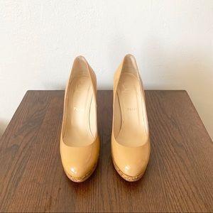 LOUBOUTIN Platform Wedge Patent Leather Heels